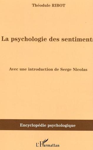 Couverture La psychologie des sentiments