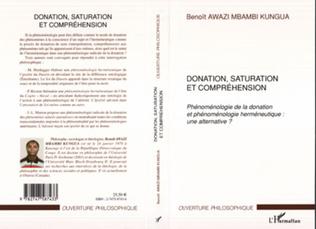 Couverture Donation, saturation et compréhension