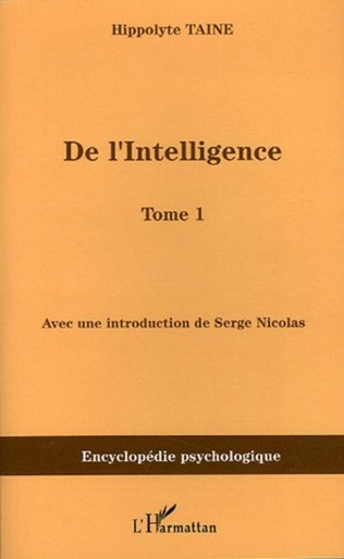 Couverture De l'intelligence