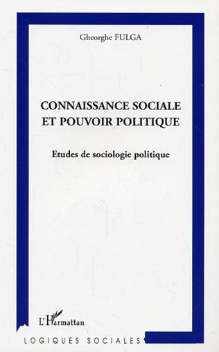 Couverture Connaissance sociale et pouvoir politique