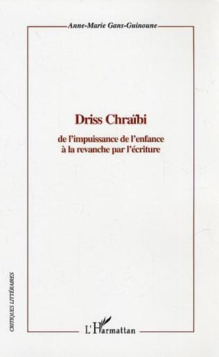 Couverture Driss Chraïbi