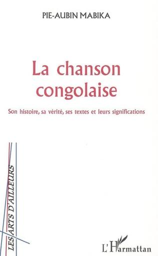 Couverture La chanson congolaise