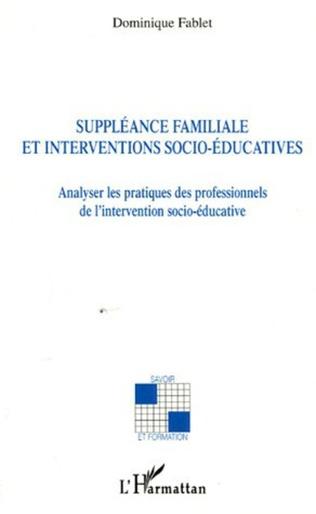 Couverture Suppléance familiale et interventions socio-éducatives