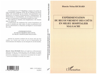 Couverture Expérimentation du recouvrement des coûts en milieu hospitalier malgache