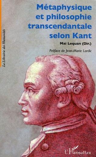 Couverture Métaphysique et philosophie transcendantale selon Kant