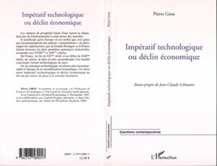 Couverture Impératif technologique ou déclin économique