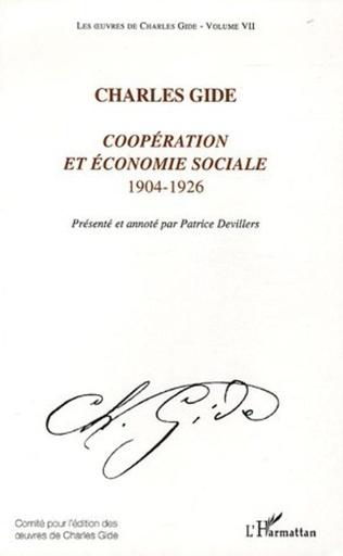 Couverture Coopération et économie sociale