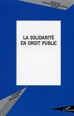 Couverture La solidarité en droit public