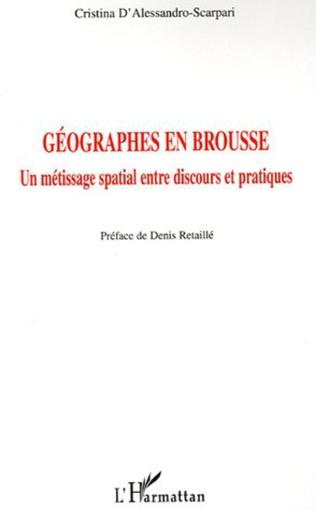 Couverture Géographes en brousse