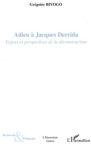 Couverture Adieu à Jacques Derrida