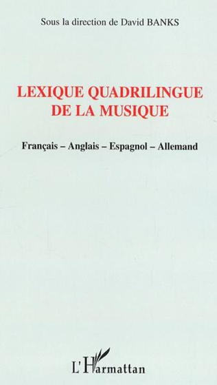 Couverture Lexique quadrilingue de la musique