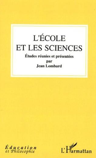 Couverture L'école et les sciences