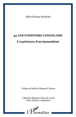 Couverture 45 ans d'Histoire Congolaise