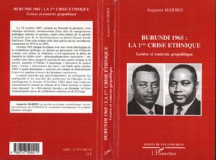 Couverture Burundi 1965 : la 1ère crise ethnique