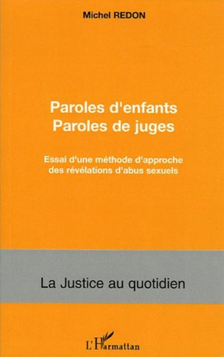 Couverture Paroles d'enfants paroles de juges