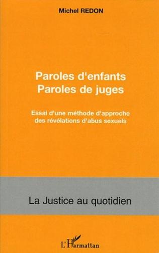 Couverture Paroles d'enfants paroles de juges