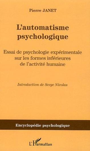 Couverture L'automatisme psychologique
