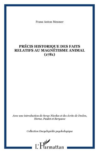 Couverture Précis historique des faits relatifs au magnétisme animal (1781)