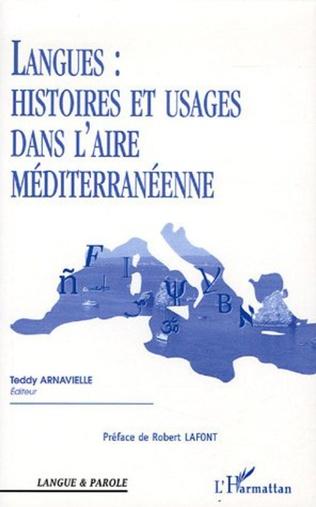 Couverture Langues : Histoires et usages dans l'aire méditerranéenne