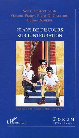 Couverture 20 ans de discours sur l'intégration