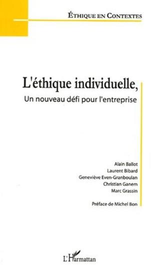 Couverture L'éthique individuelle