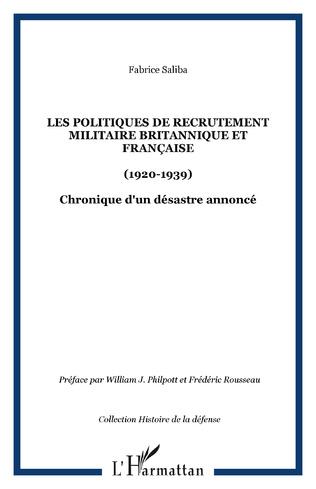 Couverture Les politiques de recrutement militaire britannique et française