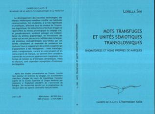 Couverture Mots transfuges et unités sémiotiques transglossiques