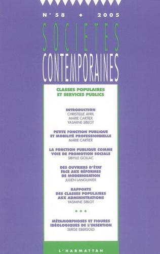 Couverture Classes populaires et services publics