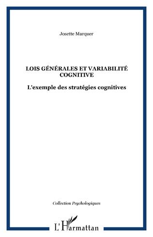 Couverture Lois générales et variabilité cognitive
