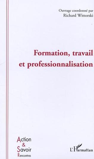 Couverture Formation, travail et professionnalisation