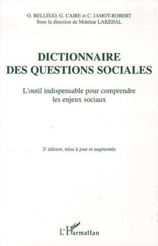 Couverture Dictionnaire des questions sociales