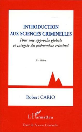 Couverture Introduction aux sciences criminelles