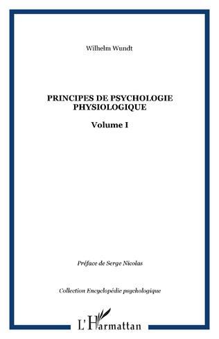 Couverture Principes de psychologie physiologique