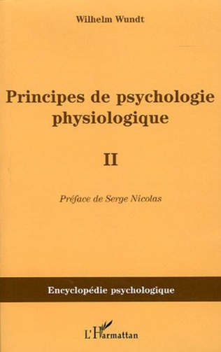 Couverture Principes de psychologie physiologique
