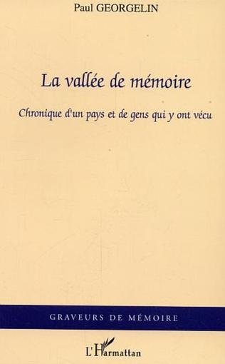 Couverture La vallée de mémoire