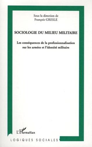 Couverture Sociologie du milieu militaire