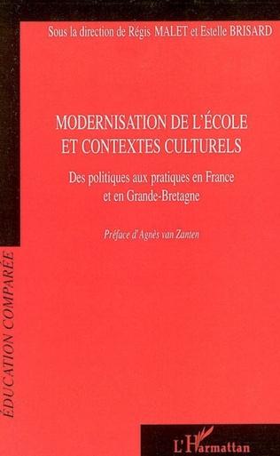 Couverture Modernisation de l'école et contextes culturels