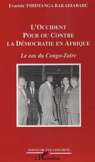 Couverture L'Occident pour ou contre la Démocratie en Afrique