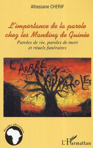 Couverture L'importance de la parole chez les Manding de Guinée