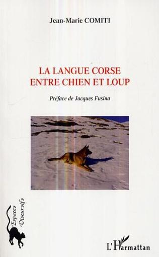 Couverture La langue corse entre chien et loup