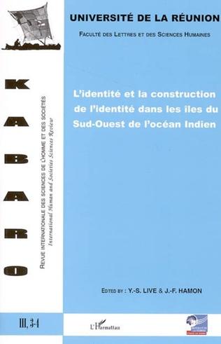 Couverture L'identité et la construction de l'identité dans les îles du Sud-Ouest de l'océan indien