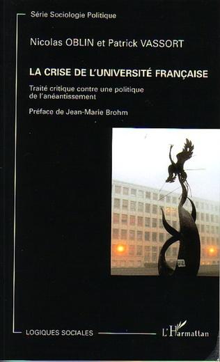 Couverture La crise de l'université française