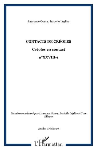 Couverture Contacts de créoles