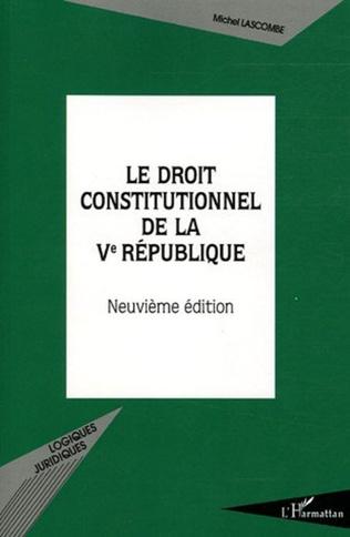 Couverture Le droit constitutionnel de la Vème République