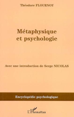 Couverture Métaphysique et psychologie