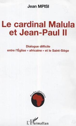 Couverture Le cardinal Malula et Jean-Paul II