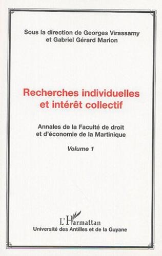 Couverture Recherches individuelles et intérêt collectif