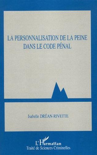 Couverture La personnalisation de la peine dans le Code pénal