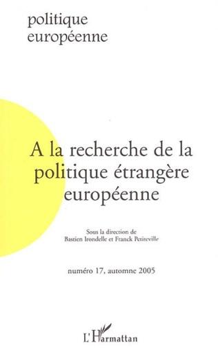Couverture A la recherche de la politique étrangère européenne