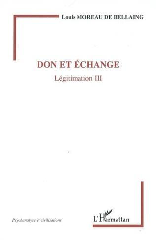 Couverture Don et échange